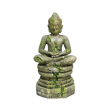 URIJK Decoraciones del Tanque de Peces Estatua de Buda Acuario Adornos Exóticos Ambientes de Pecera