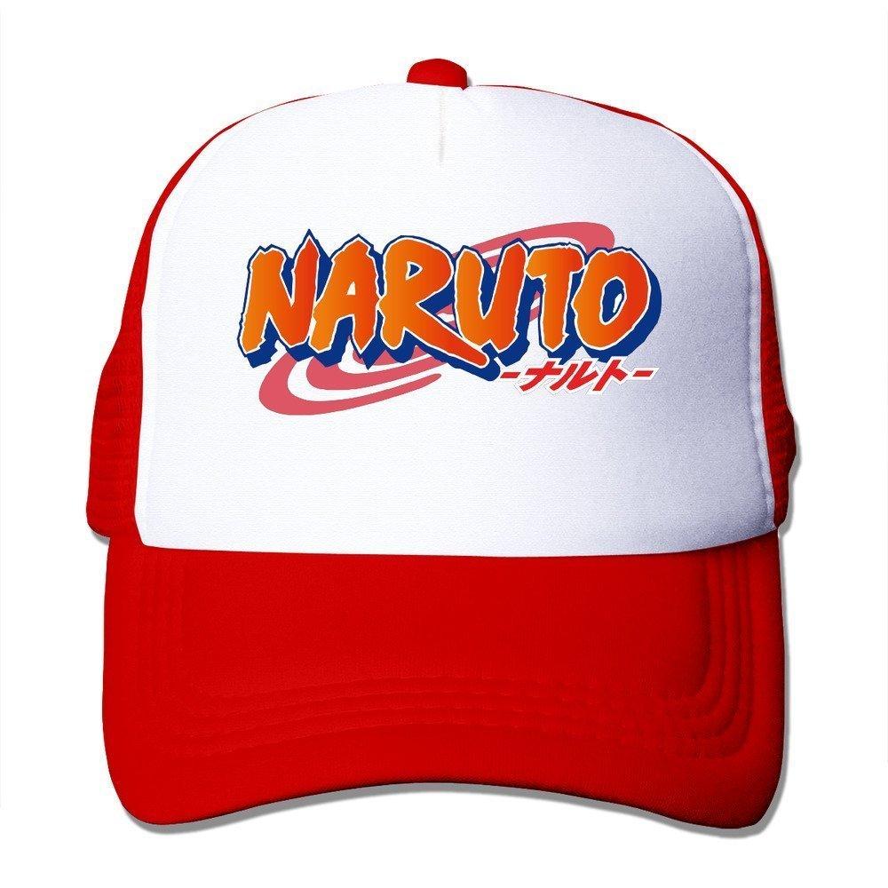 Amazon.com: Cool Naruto Shippuden Logo Trucker Mesh Baseball Cap Hat Red  (6362331529372): Books