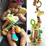 Amazon Price History for:Infant Baby Development Soft Giraffe Animal Handbells Rattles Handle Toys LO