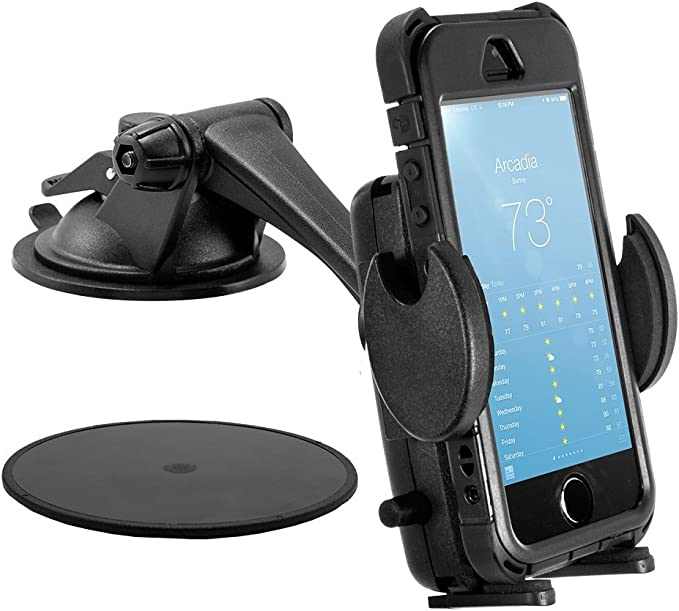 SM479 Arkon Windshield or Dash Phone Car Holder Mount for iPhone X 8 7 6S Plus 8 7 6S Galaxy Note Retail Black Arkon Resources Inc