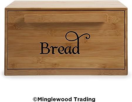 Die Cut Decal Swash Kitchen Breadbox Label BREAD Vinyl Sticker Bin