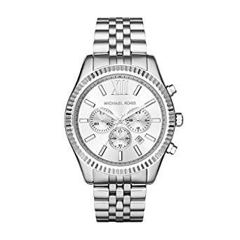 8309d8c2f6b3 Image Unavailable. Image not available for. Color  Michael Kors Men s  Lexington Silver-Tone Watch MK8405