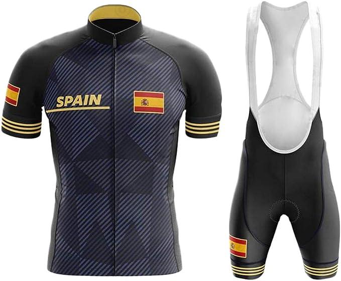 WLYX España Conjunto Ropa Traje Ciclismo Hombre para Verano, Maillot Ciclismo Hombre+Culotte Ciclismo Culote Bicicleta Pro Equipo Bicicleta Jersey: Amazon.es: Deportes y aire libre