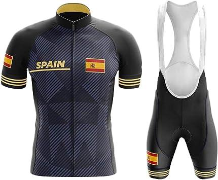 WLYX España Conjunto Ropa Traje Ciclismo Hombre para Verano, Maillot Ciclismo Hombre+Culotte Ciclismo Culote Bicicleta Pro Equipo Bicicleta Jersey (1,L): Amazon.es: Deportes y aire libre