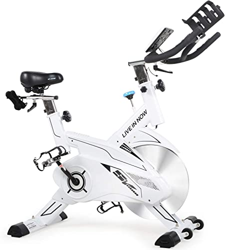 L Now Indoor Cycling Bike Exercise Bike Stationary-Cycle Bike With Two Dumbbells LCD Display Wide Seat Cushion