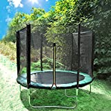 Greenbay 14FT Garden Trampoline Set With Jumping Mat Safety Net Enclosure Rain Cover