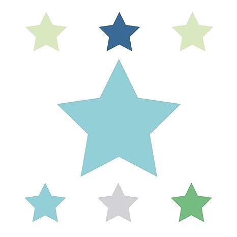 Wandtattoo Schlafzimmer M/ädchen /& Junge Wanddeko Baby//Kinder Anna Wand Bord/üre selbstklebend Stars 4 Boys Wandbord/üre Kinderzimmer//Babyzimmer mit bunten Stern-Motiven