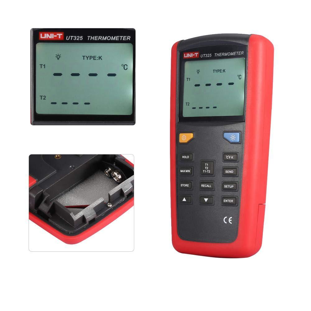 UNI-T UT325 Digital Thermometer LCD Display Contact Type Digital Thermometer with K Type Temperature Probe