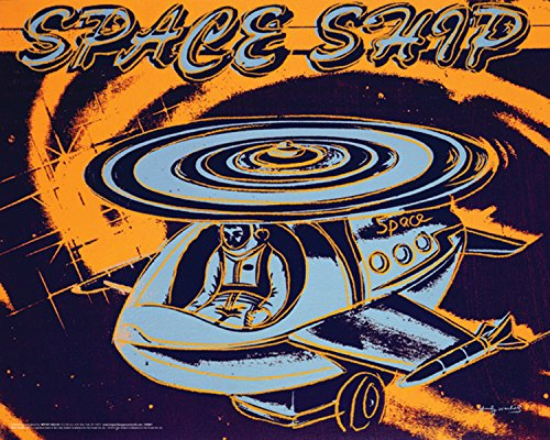 Andy Warhol Space Ship Celebrity Pop Art Icon Poster Print 16 by 20