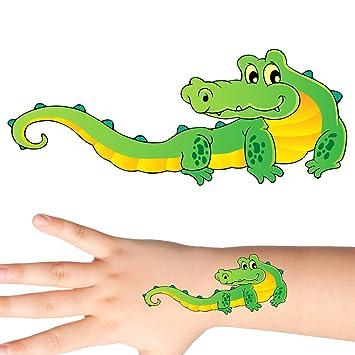 260d08ee6 Amazon.com: Groovi - Happy Crocodile Temporary Tattoo Set (30 pack ...