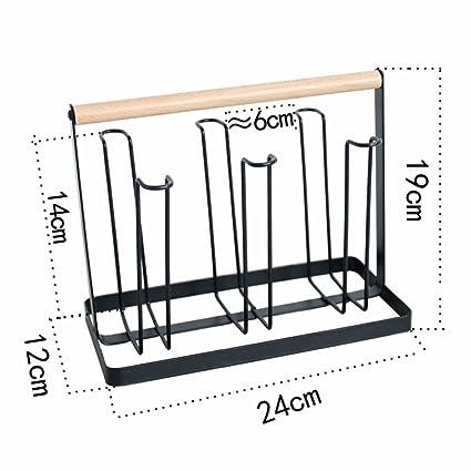 TTTTYY Portavasos de hierro Portacuchillas de madera para el hogar Portavasos de agua colgante Portavasos de