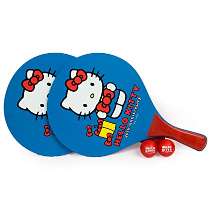 Hello Kitty Sports - Juego de Pelotas de pádel para Playa (40 Aniversarios),