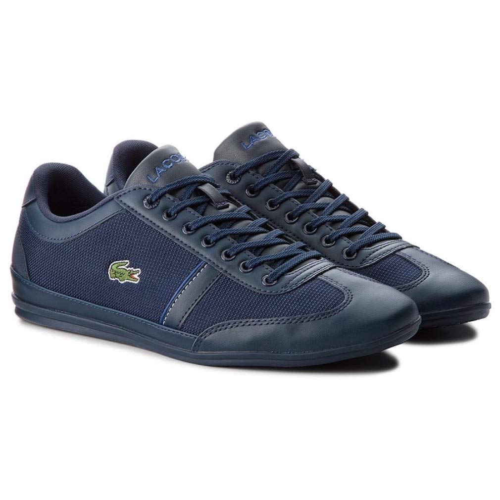 e187897ec Lacoste Men s Misano Sport 318 1 Cam Black Canvas Sneakers Shoes 9.5 M US   Buy Online at Low Prices in India - Amazon.in
