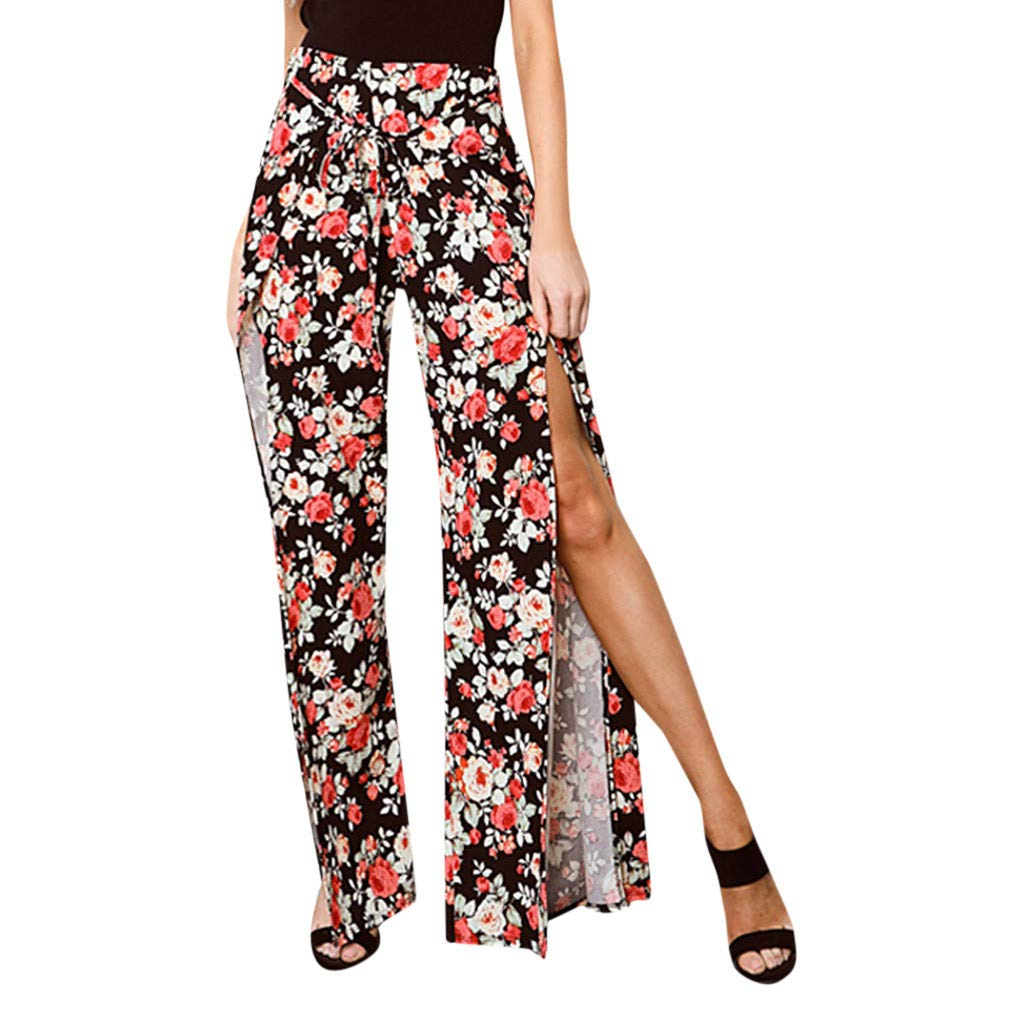 ONLY TOP Womens Casual Loose Elastic Waist Cotton Trouser Cropped Wide Leg Pants Palazzo Trousers
