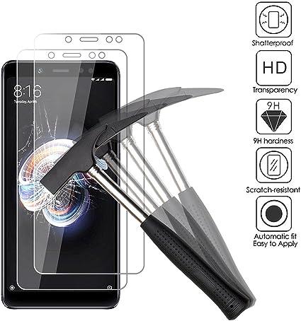 ANEWSIR [2 Pack Protector de Pantalla para Xiaomi Redmi Note 5 / Redmi Note 5 Pro, Cristal Templado para Xiaomi Redmi Note 5 Pro/Xiaomi Redmi Note 5 Ultra-Transparente, Resistente a Arañazos.: Amazon.es: Electrónica