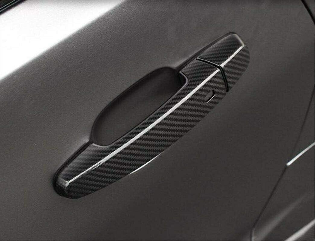 Garniture de couvercle de poign/ée de porte lat/érale ext/érieure en fibre de carbone pour Camaro 2016-2019
