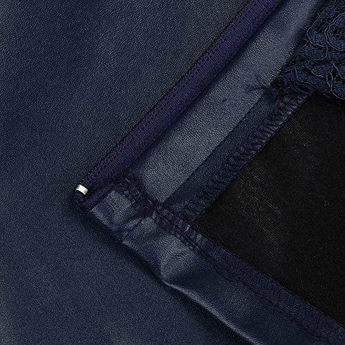 Jupe Fermeture Jupe Courte Dentelle Haute Plisse Marine Sunenjoy Taille Uniforme Fille Sexy Eclair Zippe Femme Jupe Elgant Cuir Moulante Soire Courtes de Crayon Jupe Jupe Robe Courte xgg0wqvAH