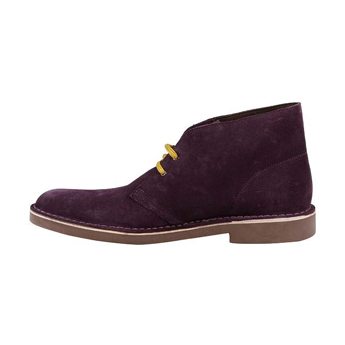 c549c52ee0460 Amazon.com | CLARKS Bushacre Ca Mens Purple Suede Casual Dress Lace Up  Chukkas Shoes | Chukka