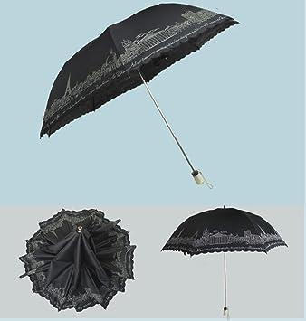 Hzhy Sombrilla Bordada de Alto Grado Sombrilla Sombrilla de plástico Negra Paraguas Paraguas Doble Paraguas Precio