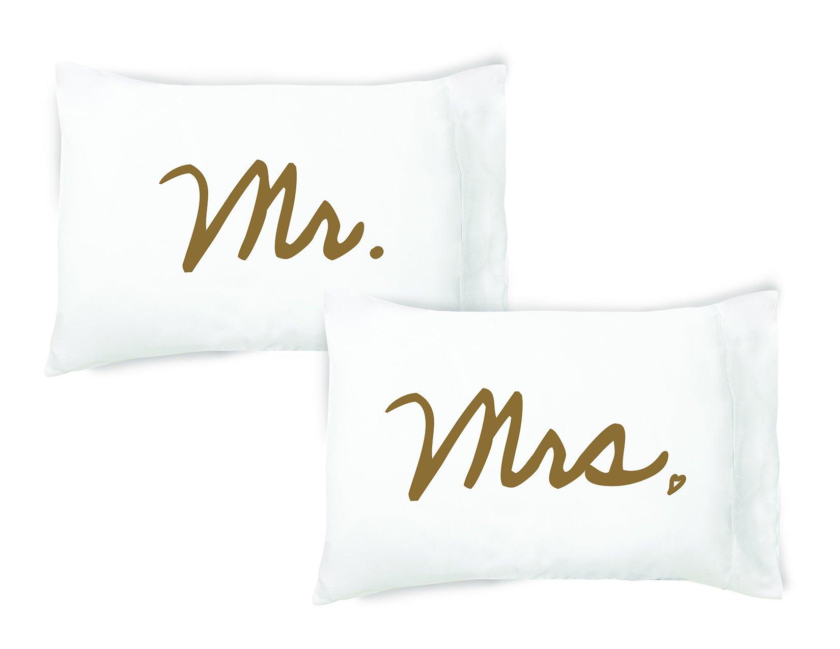 Faceplant Dreams Mr. / Mrs. Cotton Pillowcase Set (Standard/Queen) by Faceplant Dreams