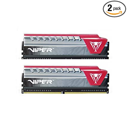 Amazon Com Viper Elite Series Ddr4 8gb 2 X 4gb 2400mhz Kit Red