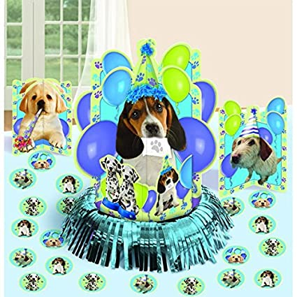 Amazon.com: Cute Pups de fiesta Kit para decoración de mesa ...