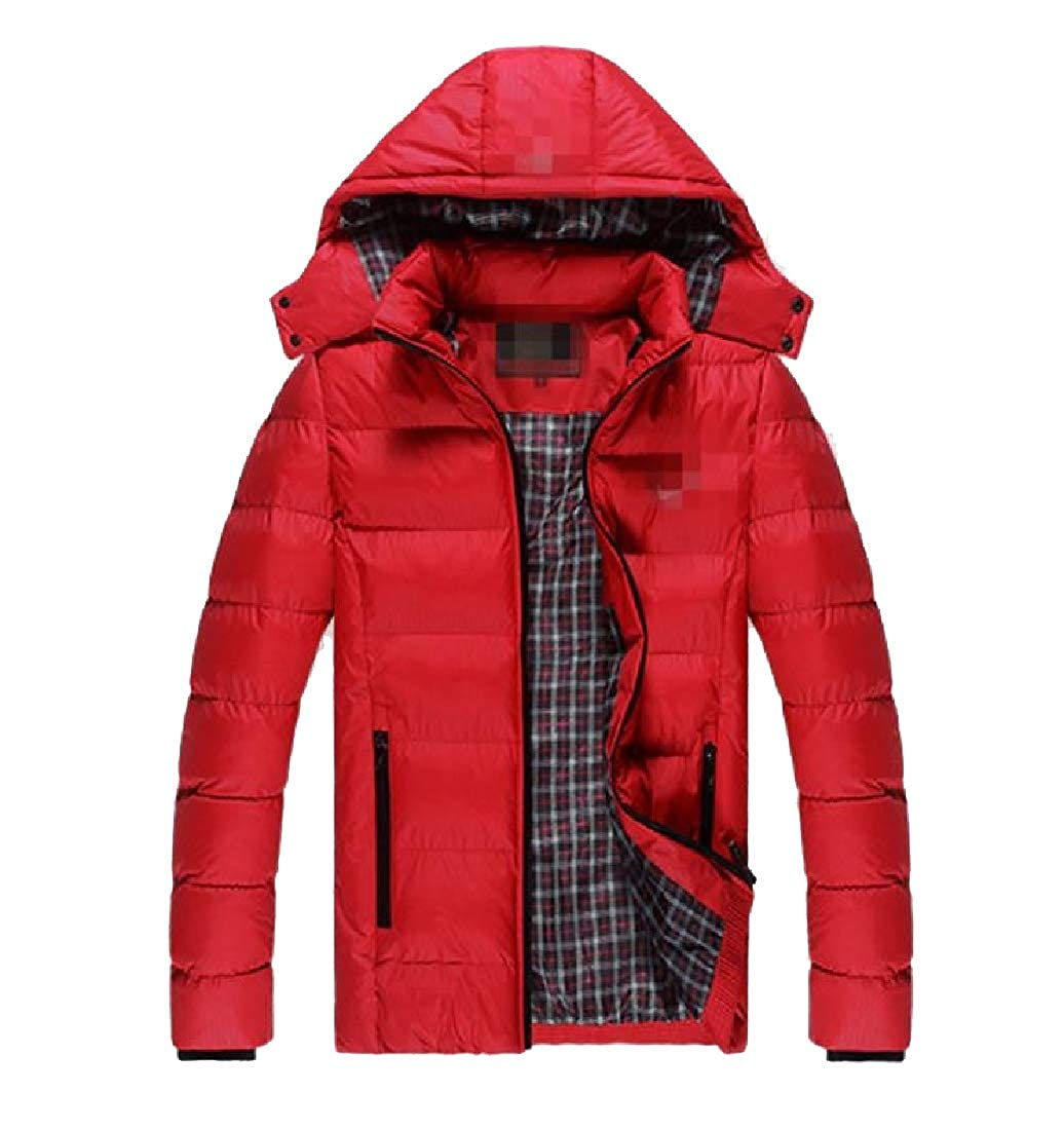 Freely Mens Thicken Plus Size Hoodie Casual Loose Winter Parka Jacket