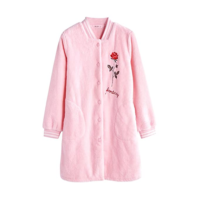 Conjunto de pijama de franela de niña Traje de impresión Más grueso albornoces Ropa de cama