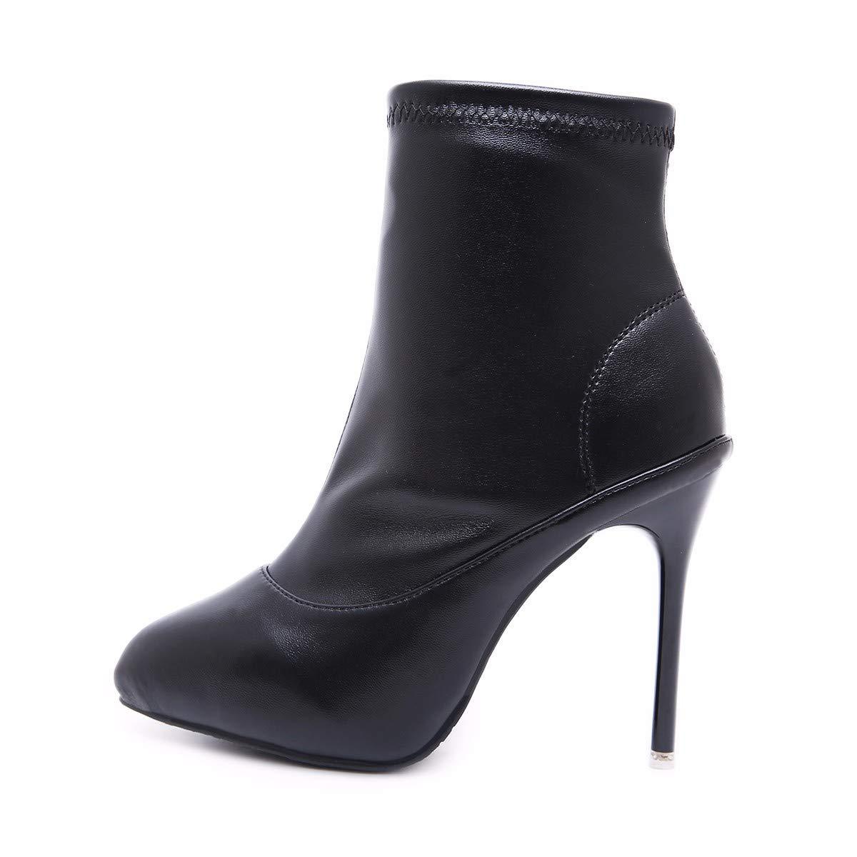 LBTSQ-Mode Damenschuhe Gut Bei Fuß Martin Stiefel Mit Stiefeln Lässig Spitze High Heels Kurze Stiefel.