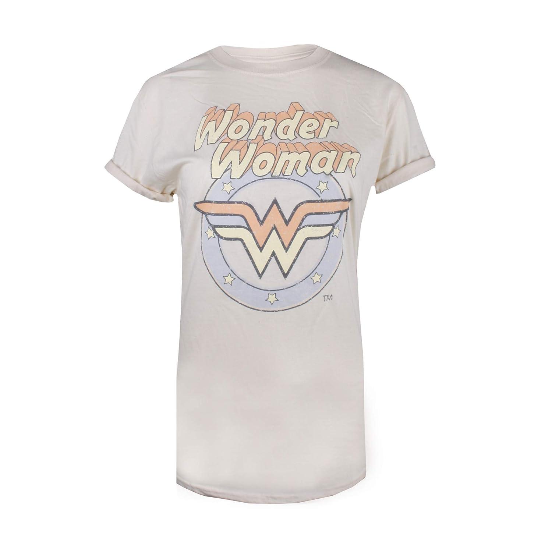 TALLA 38 (Talla del fabricante: SMALL). DC Comics WW Pastel Camiseta para Mujer