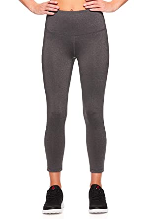 Reebok Women s Capri Leggings with High-Rise Waist Performance Compression  Tights 676bbc810