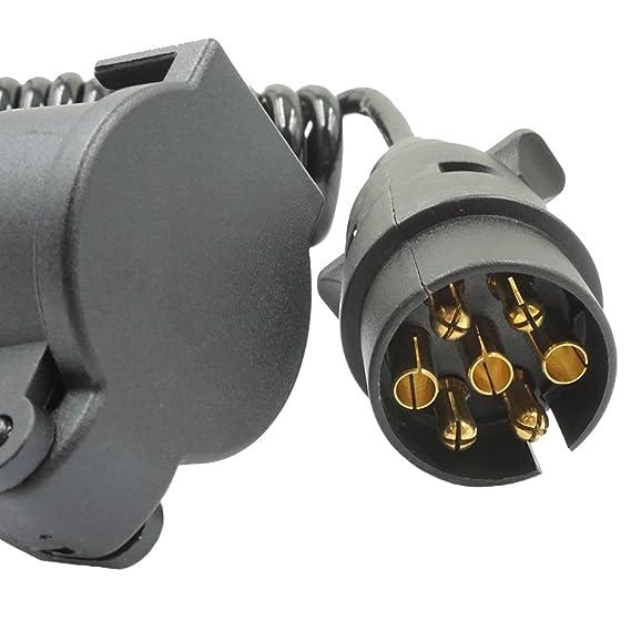 Anhänger Verlängerungskabel 7 Polig Adapter Spiralkabel ...