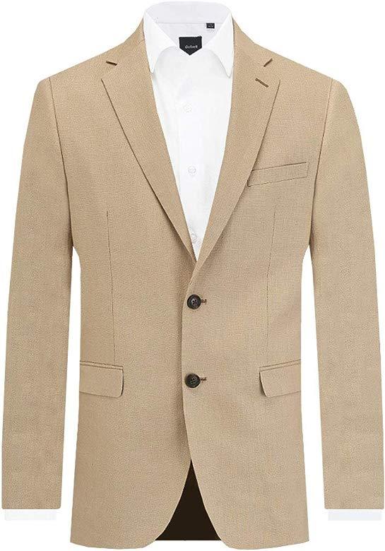 Dobell Mens Cream Suit Trousers Regular Fit Lightweight Linen