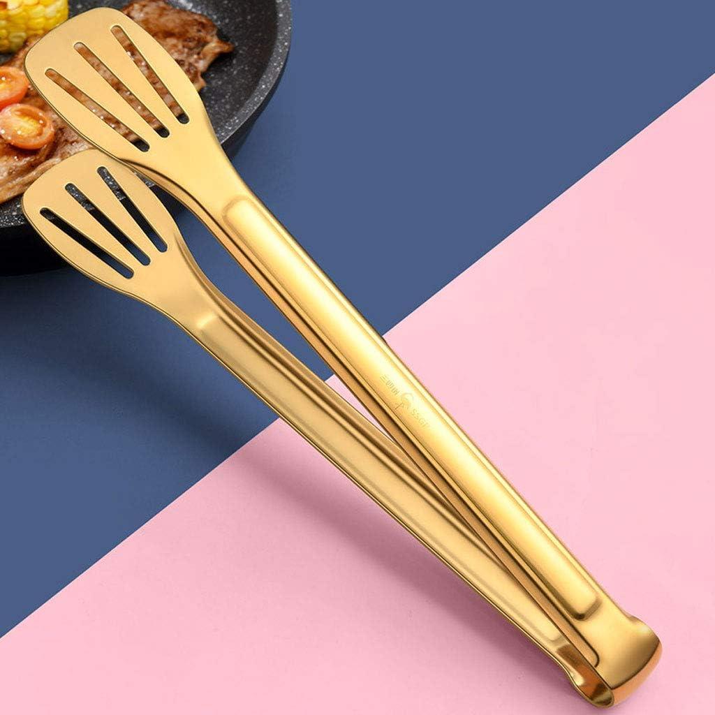 JIAAN Pinzas de Cocina Pinzas Cocina Pinzas Barbacoa Clip de Carne Pinzas de Cocina Pinzas Barbacoa Pinzas de Acero Inoxidable para Buffet,Ensalada,Pan,Comida Frita y Horneando 2 Piezas
