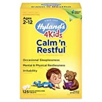 Kids Sleep Aid Tablets, Calm 'n Restful by Hyland's Kids, Natural Anxiety, Stress...