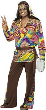 Disfraz hippie M 48/50 disfraz de hippie disfraces de flores disfraz ...
