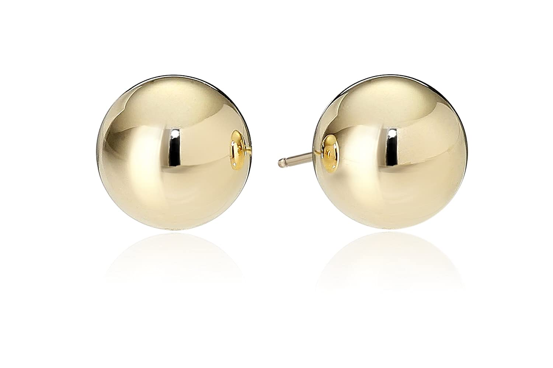 18k Yellow Gold Ball Stud Earrings Amazon Collection 18-E45-7000