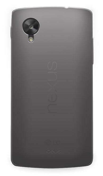 Ideus COGONE5TPUSKGY - Carcasa de TPU para Google Nexus 5, gris ahumada