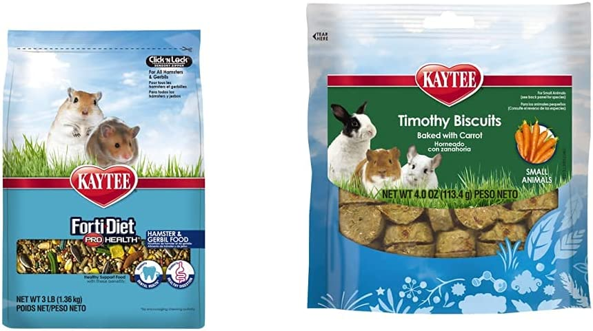 Kaytee Forti Diet Pro Health Hamster Food and Baked Carrot Treats