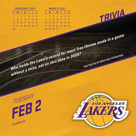 TURNER Sports Los Angeles Lakers 2021 Box Calendar