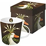 Paperproducts Design Gift Boxed Porcelain Mug, 13.5 oz, Vicki Sawyer-Miranda Goose, Multicolor