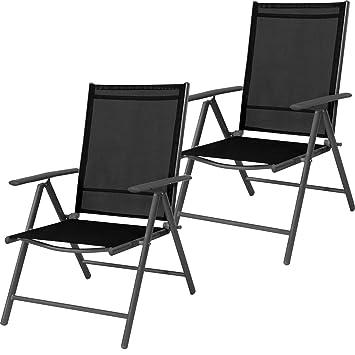 Mojawo - Juego de 2 sillas de jardín (Respaldo Alto, 7 ...
