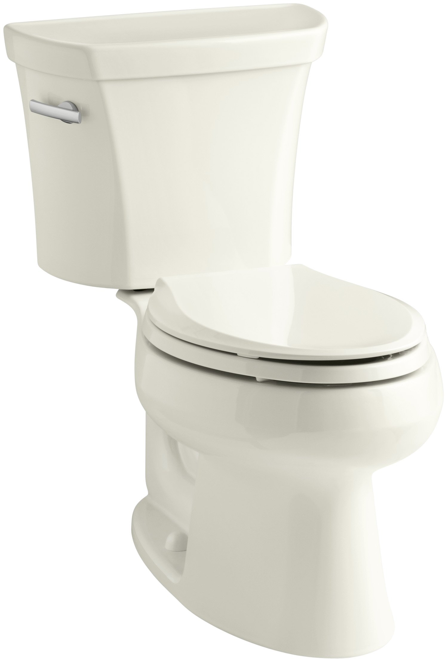 Kohler K-3978-96 Wellworth Elongated 1.6 gpf Toilet, Biscuit by Kohler