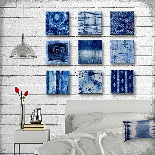 Amazon.com: Indigo Tie Dye Batik Glass Wall Art - Handmade Decoupage ...