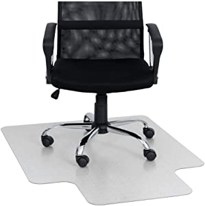 """KAISER PLASTIC Chair Mat   Xtra - Strong Quality   Made-in-Germany   36"""" x 48"""" x 1/8"""" with Lip   for Low/Medium Pile Carpets Polycarbonate"""