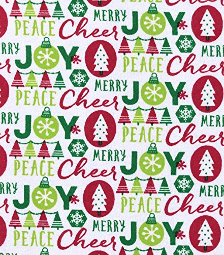 Flannel Christmas Cheer Joy Peace Merry (Cheer Flannel)