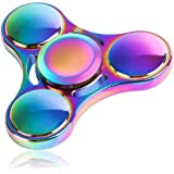 Fidget Spinner, Fnova Rainbow Anti-Anxiety Spinner [Metal Fidget Toy] Colorful Hand Spinner for Relieving ADD, ADHD, Anxiety, Autism and Boredom