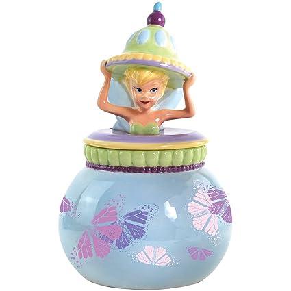 Disney Cookie Jars Amazon Com >> Westland Giftware Ceramic Disney Tinker Bell Fairy Dust Cookie Jar 10 5 Inch