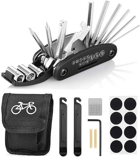 Migimi 16 en 1 Multifunción para Bicicletas, Herramientas para Bicicletas Ciclismo Herramientas, Kit de Herramientas para Bicicletas: Amazon.es: Deportes y aire libre
