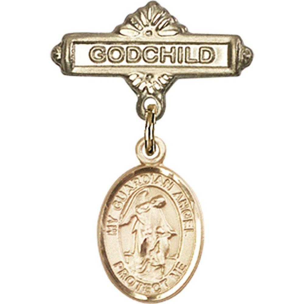ゴールドFilled BabyバッジwithガーディアンエンジェルチャームとGodchildバッジピン1/ x B00PQ82V6M 5 5/ 8インチ B00PQ82V6M, 京都祇園ボロニヤ:5800fb95 --- ijpba.info